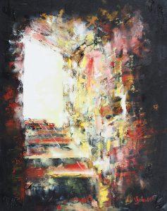 Vers la lumière (Valérie Schenk - 2015 - 40x50 - Huile)
